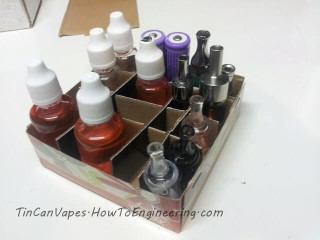 Make your own e-juice vape storage tray